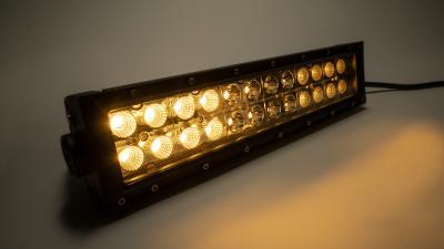 12 Inch Straight Cree Amber White Led Light Bar Dual Row