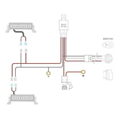LIGHT BAR HARNESS, ROCKER FLIP-SWITCH, DUAL DT CONNECTOR